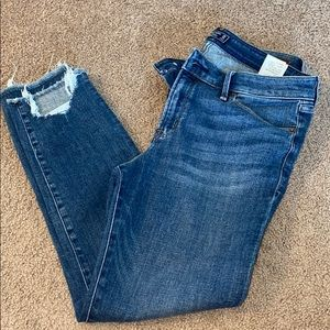 Abercrombie and Fitch Harper low rise ankle jeans